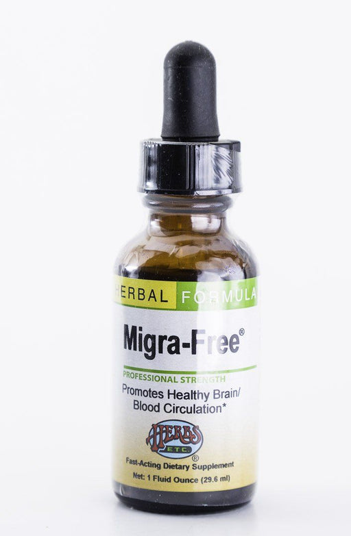 Herbs, Etc. - Migra-Free (Migraine/Headache) 1 oz Herbal Tincture - Supplement - Hardin's Natural Foods