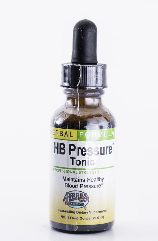 Herbs, Etc. - HB (High Blood) Pressure Tonic - 1 oz Bottle - Supplement - Hardin's Natural Foods