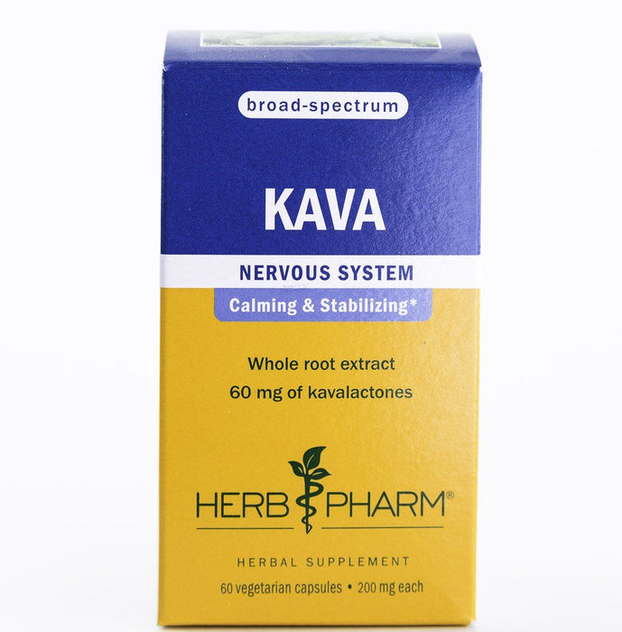 Herb Pharm - Kava Herbal Extract - 60 V-Caps - Supplement - Hardin's Natural Foods