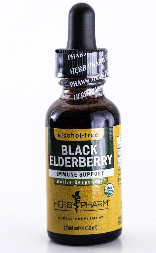 Herb Pharm - Black Elderberry Herbal Extract - 1 oz Tincture - Supplement - Hardin's Natural Foods