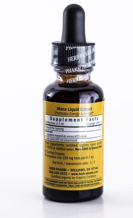 Herb Pharm -  Maca Herbal Extract - 1 oz Tincture - Supplement - Hardin's Natural Foods