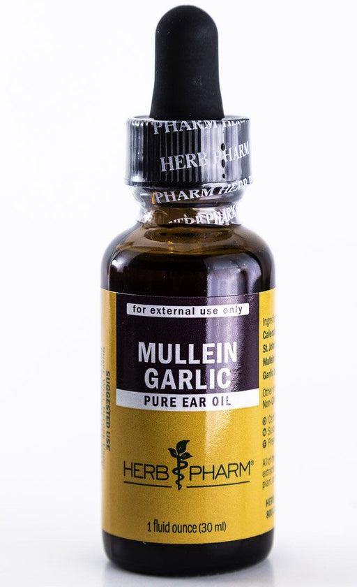 Herb Pharm -  Mullein Garlic Ear Oil Herbal Extract Formula - 1 oz Tincture - Supplement - Hardin's Natural Foods
