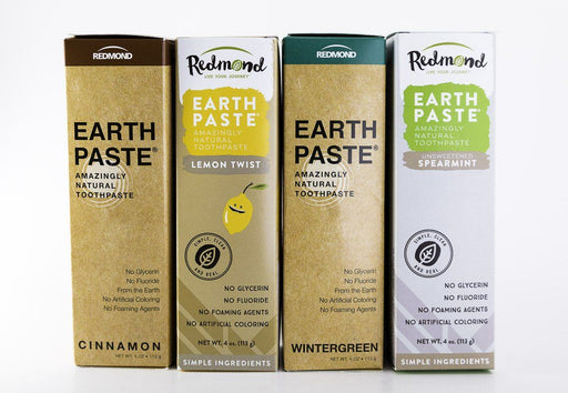 Redmond Trading Company Earthpaste - 4 Flavor Quad Pack - 4 oz Tubes - Body Care - Hardin's Natural Foods