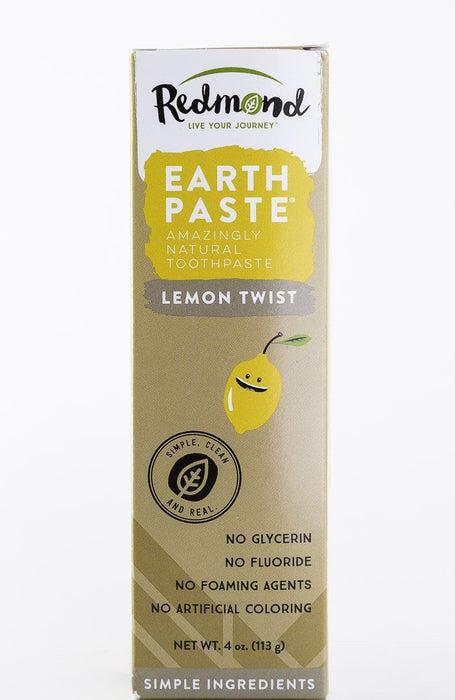 Redmond Trading Company Earthpaste Toothpaste - Lemon Twist - 4 oz Tube - Body Care - Hardin's Natural Foods