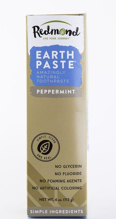 Redmond Trading Company Earthpaste Toothpaste - Peppermint - 4 oz Tube - Body Care - Hardin's Natural Foods