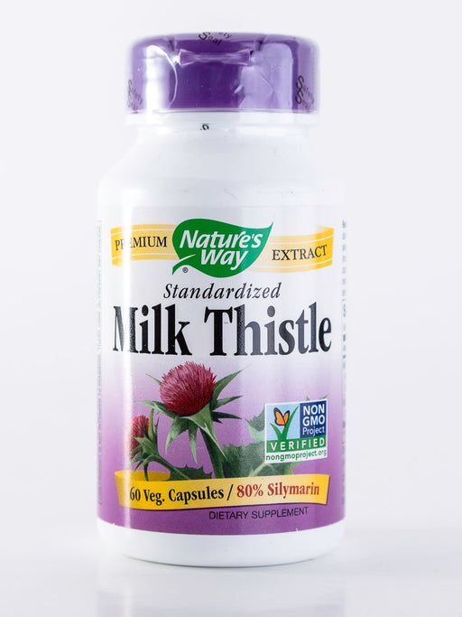 Nature's Way - Milk Thistle, Standardized - 60 Vegetarian Capsules - Liver Health - Supplement - Hardin's Natural Foods