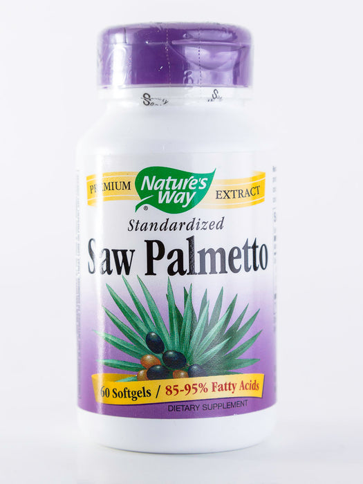 Nature's Way - Saw Palmetto, Standardized - 60 Softgels - Prostate Health - Supplement - Hardin's Natural Foods