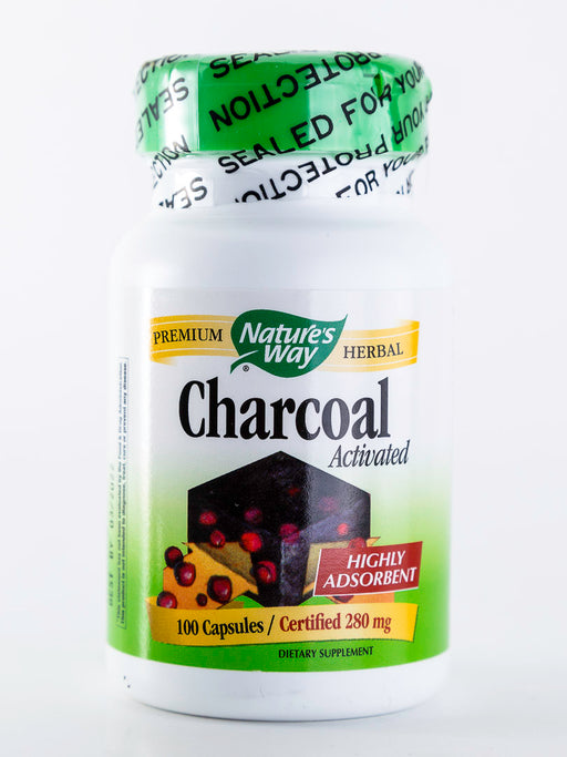 Nature's Way - Charcoal, Activated - 100 Capsules - Digestive Health - Supplement - Hardin's Natural Foods