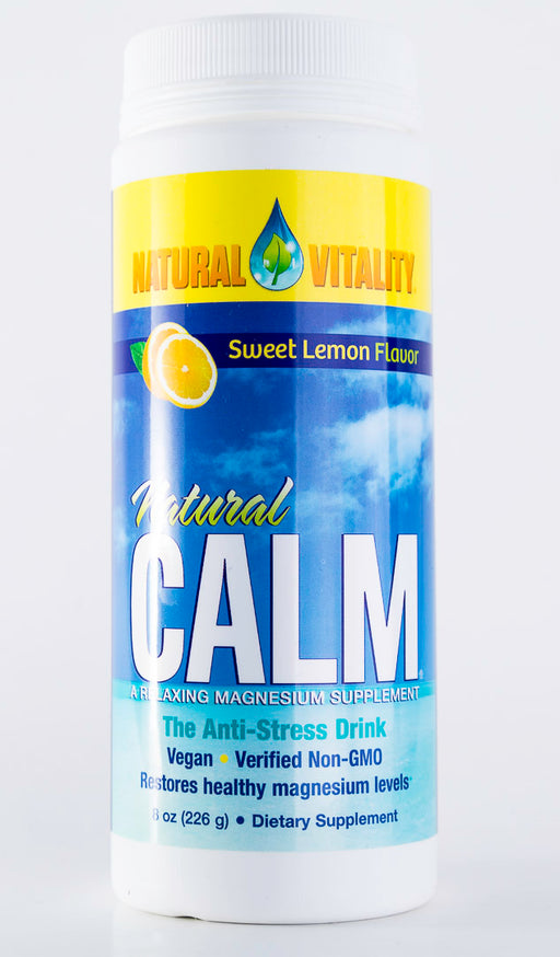 Natural Vitality - Natural Calm Sweet Lemon Flavor - 8 oz Powder - Magnesium - Supplement - Hardin's Natural Foods