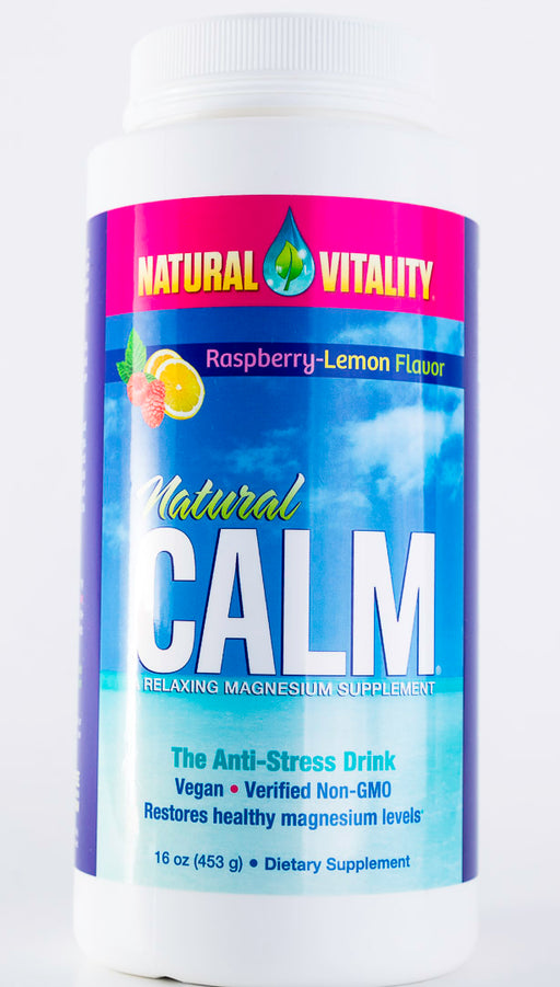Natural Vitality - Natural Calm Raspberry Lemon Flavor - 16 oz Powder - Magnesium - Supplement - Hardin's Natural Foods