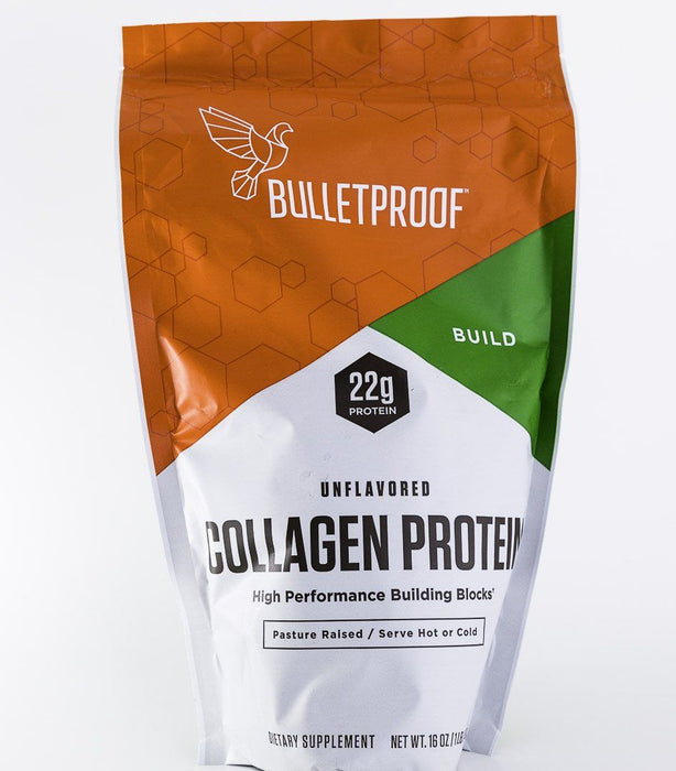 BulletProof Collagen Protein Powder - Unflavored - 16 oz Bag - Supplement - Hardin's Natural Foods