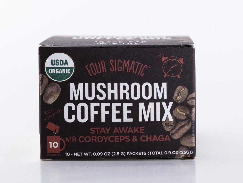 Four Sigmatic - Mushroom Coffee Mix - Cordyceps & Chaga - 10 Packets - Tea - Hardin's Natural Foods