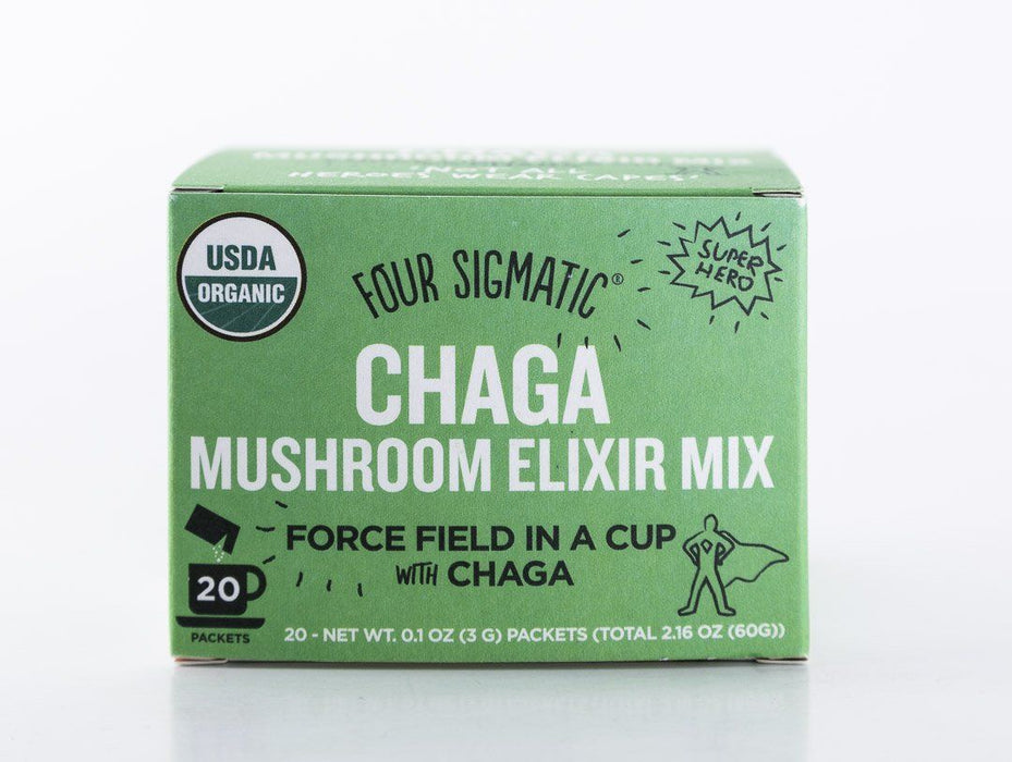 Four Sigmatic - Chaga Mushroom Elixir Drink Mix - 20 Packets - Tea - Hardin's Natural Foods