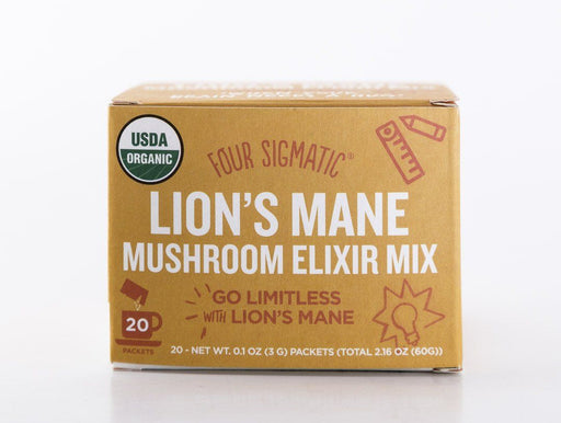 Four Sigmatic - Lion's Mane Mushroom Elixir Drink Mix - 20 Packets - Tea - Hardin's Natural Foods