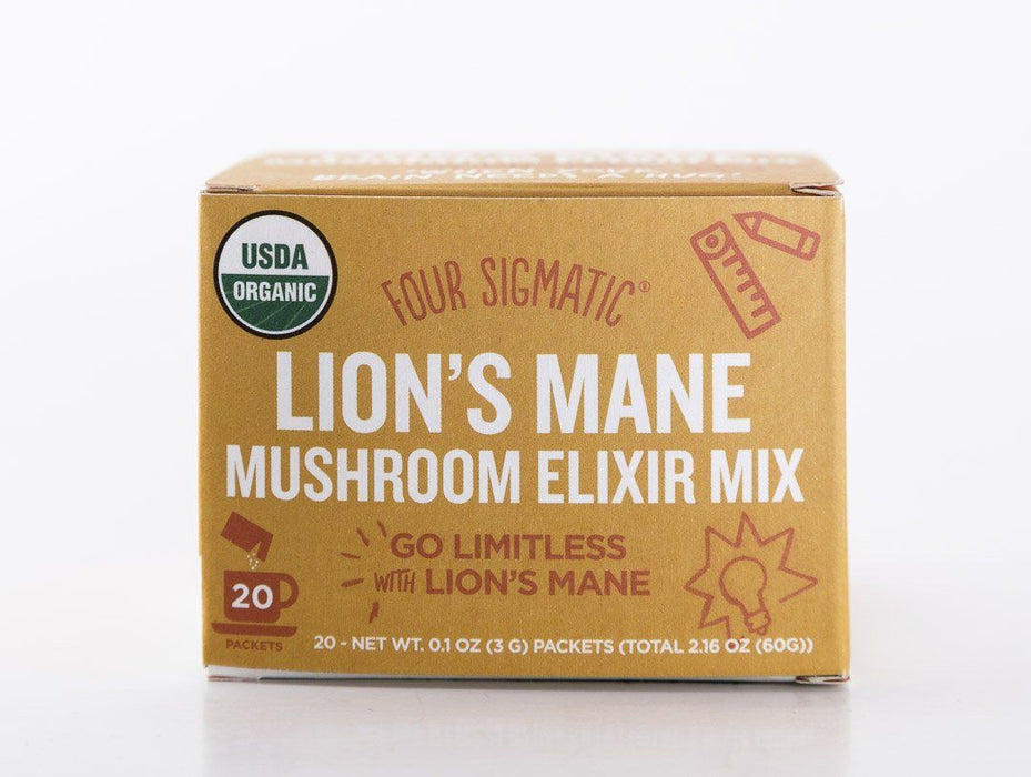 Four Sigmatic - Lion's Mane Mushroom Elixir Drink Mix - 20 Packets