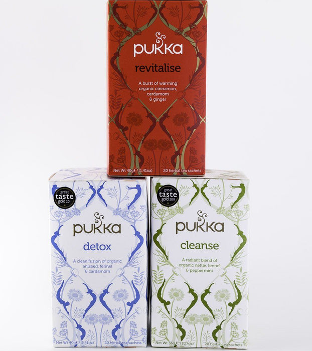 Pukka Tea - Rejuvenation 3 Pack - 1 Box of Detox, Revitalize & Cleanse - Tea - Hardin's Natural Foods