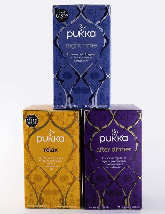 Pukka Tea - Evening 3 Pack - 1 Box of After Dinner, Night Time & Relax - Tea - Hardin's Natural Foods