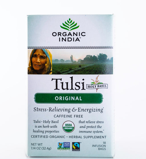 Organic India - Tulsi Original Tea - 18 Tea Bags, 1.14 oz - Holy Basil - Tea - Hardin's Natural Foods