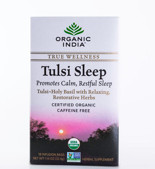 Organic India - Tulsi Sleep, True Wellness Tea - 18 Tea Bags, 1.01 oz - Holy Basil - Tea - Hardin's Natural Foods