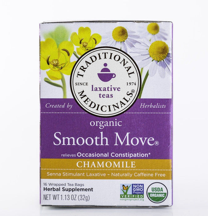 Traditional Medicinals - Organic Smooth Move - Chamomile - 16 Tea Bags - Laxative