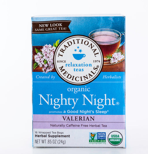 Traditional Medicinals - Nighty Night - Valerian - 16 Tea Bags - Tea - Hardin's Natural Foods