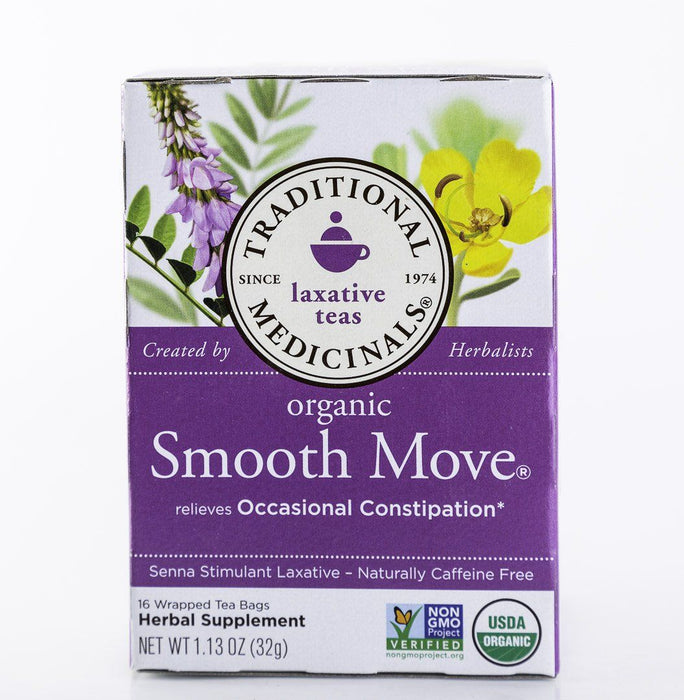 Traditional Medicinals - Smooth Move - Original - 16 Tea Bags - Laxative - Tea - Hardin's Natural Foods