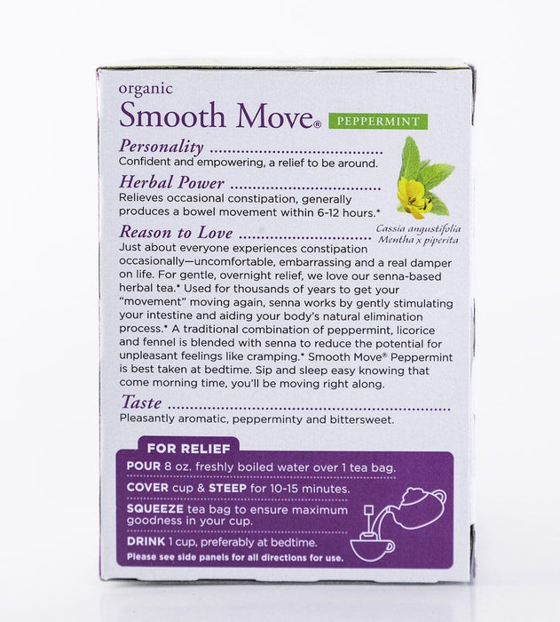Traditional Medicinals - Smooth Move - Peppermint - 16 Tea Bags - Tea - Hardin's Natural Foods