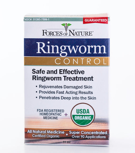 Forces of Nature - Ringworm Control - 11ml Bottle of Homeopathic Medicine - Supplement - Hardin's Natural Foods