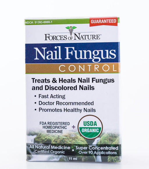 Forces of Nature - Nail Fungus Control, Regular Strength - 11ml Bottle of Homeopathic Medicine - Supplement - Hardin's Natural Foods