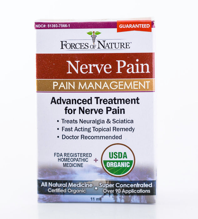 Forces of Nature - Nerve Pain Management - 11ml Bottle of Homeopathic  Medicine