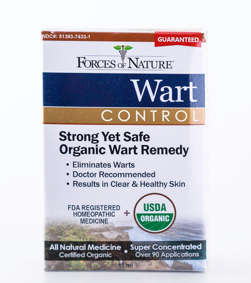 Forces of Nature - Wart Control, Regular Strength - 11ml Bottle of Homeopathic Medicine - Supplement - Hardin's Natural Foods