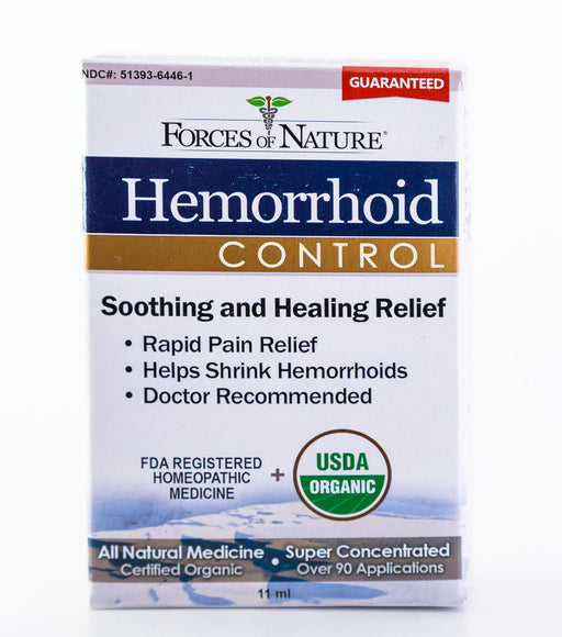Forces of Nature - Hemorrhoid Control, Regular Strength - 11ml Bottle of Homeopathic Medicine - Supplement - Hardin's Natural Foods