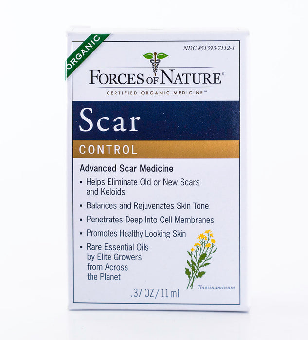 Forces of Nature - Scar Control - 11ml Bottle of Homeopathic Medicine - Supplement - Hardin's Natural Foods
