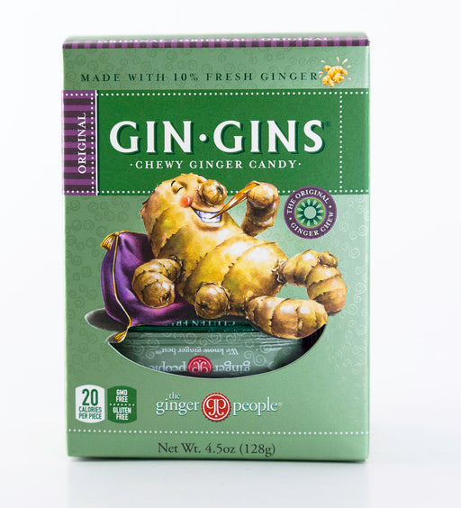 Ginger People - Original Gin Gin Chewy Candy - 4.5 oz Box