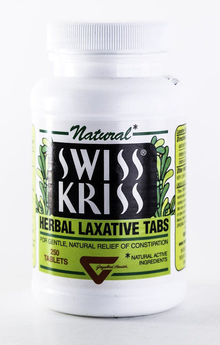 Swiss Kriss - Herbal Laxative - 250 Tablets - Gayelord Hauser, Modern Products - Supplement - Hardin's Natural Foods