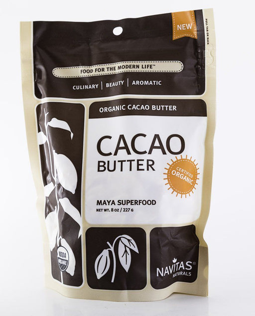 Navitas Organics - Organic Cacao Butter - 8 oz Bag - Maya Superfood
