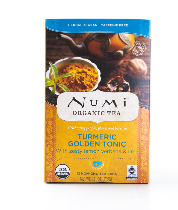 Numi - Turmeric Golden Tonic - Organic Herbal Tea - 12 Tea Bags - Tea - Hardin's Natural Foods
