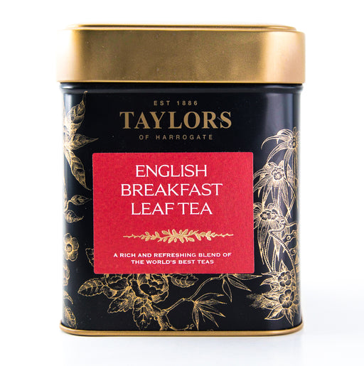 Taylors of Harrogate - English Breakfast Leaf Tea - 4.41 oz Tin - Loose Leaf