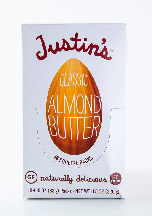 Justin's - Classic Almond Butter Packets - Case of 10-1.15 oz Packs (11.5 oz Box) - Groceries - Hardin's Natural Foods