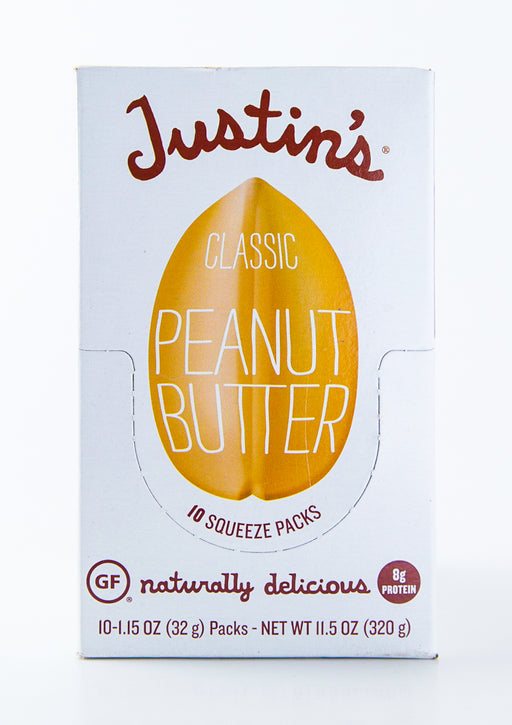 Justin's - Classic Peanut Butter Packets - Case of 10-1.15 oz Packs (11.5 oz Box) - Groceries - Hardin's Natural Foods