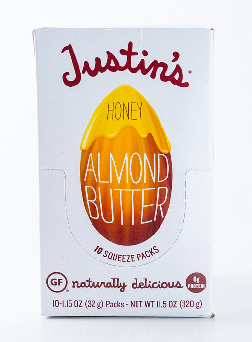 Justin's - Honey Almond Butter Packets - Case of 10-1.15 oz Packs (11.5 oz Box)