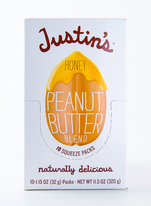 Justin's - Honey Peanut Butter Packets - Case of 10-1.15 oz Packs (11.5 oz Box) - Groceries - Hardin's Natural Foods
