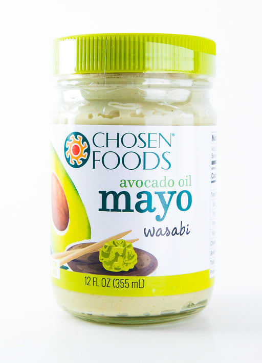 Chosen Foods Avocado Oil Mayo, Wasabi, 12 OZ, Paleo and Whole30 - Condiments - Hardin's Natural Foods