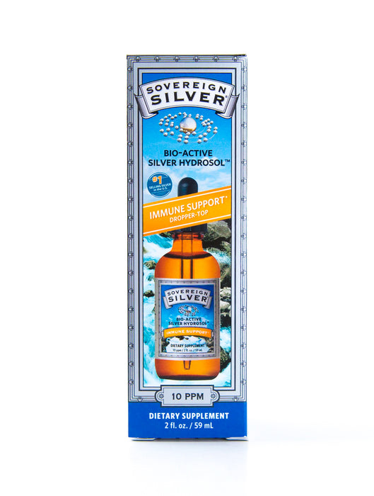 Sovereign Silver - Bio-Active Silver Hydrosol Dropper-Top - 10 ppm - 2 fl oz - Supplement - Hardin's Natural Foods