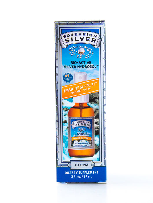 Sovereign Silver - Bio-Active Silver Hydrosol Spray Bottle - 2oz Bottle - Supplement - Hardin's Natural Foods