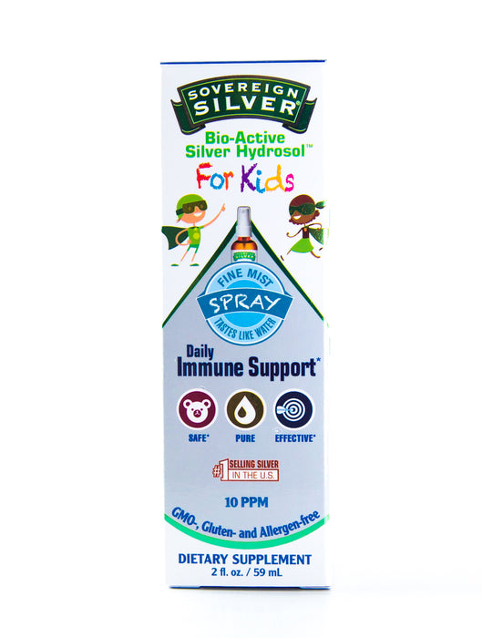 Sovereign Silver For Kids - Bio-Active Silver Hydrosol Spray Bottle - Daily Immune - 2oz Bottle - Supplement - Hardin's Natural Foods