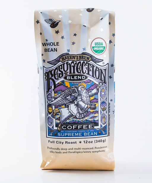 Raven's Brew Organic Resurrection Blend Coffee - Whole Bean - 12 oz bag - Tea - Hardin's Natural Foods