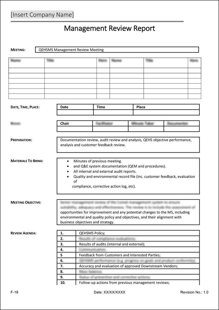 ISO 90012015 Quality Management System Documentation Template