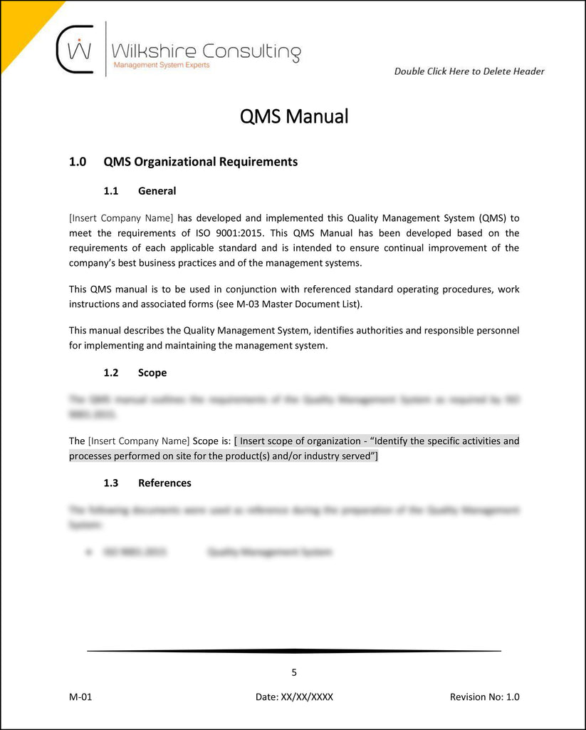 Integrated Management system manual Example
