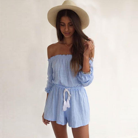 Summer Off Shoulder Romper
